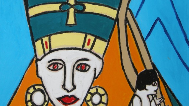 Portrait of Nefertiti Acrylic on canvas $50.5 million